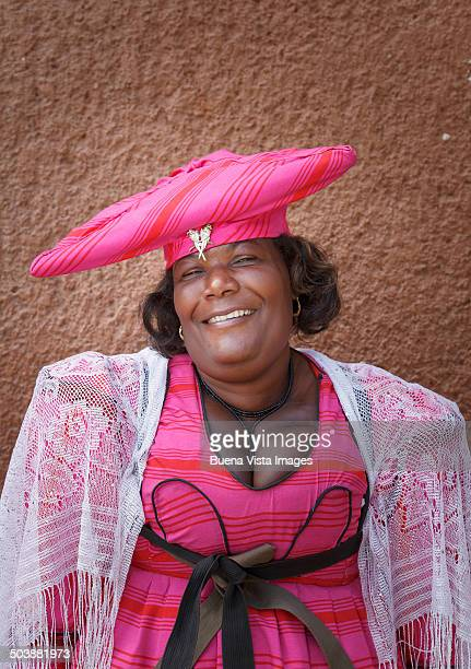 Herero woman with traditional dress