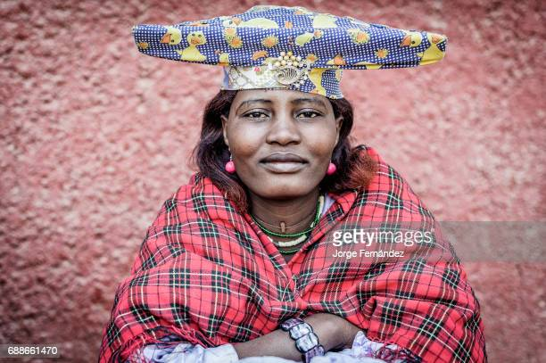 Herero woman with typical dress