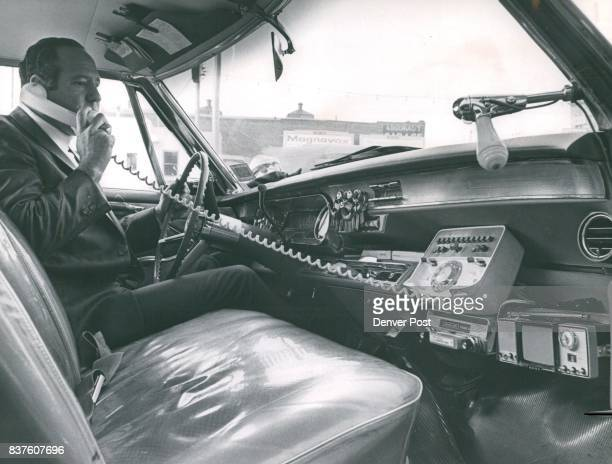 Here's interior of the camouflaged Caddy which Denver Repossession Bureau Inc uses as a tool in its aroundtheclock effort to catch up with people who...