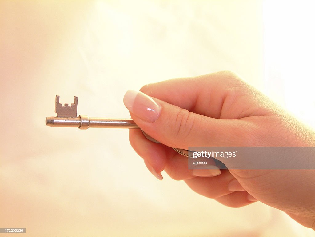 Here's the key. : Stock Photo