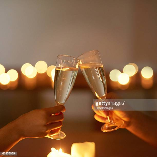 Here's to a romantic night