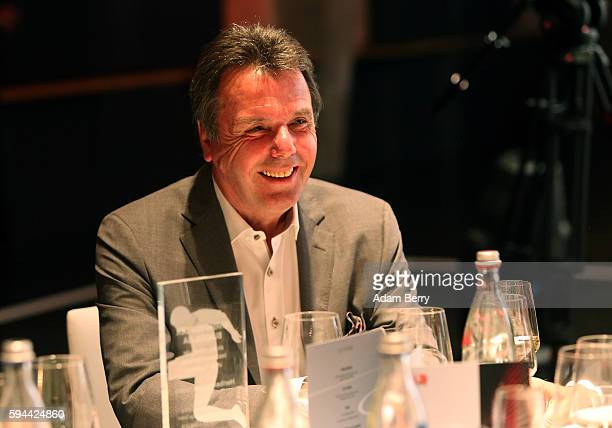Heribert Bruchhagen chairman of Eintracht Frankfurt Fussball AG attends a Bundesliga gala award evening on August 23 2016 in Berlin Germany Former...