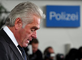 Heribert Rech interior Minister of state BadenWuerttemberg adresses the media during a press conference on March 12 2009 in Winnenden Germany17 year...
