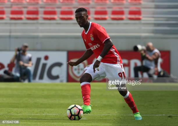 Heriberto Tavares of SL Benfica B in action during the Segunda Liga match between SL Benfica B and FC Porto B at Caixa Futebol Campus on April 23...