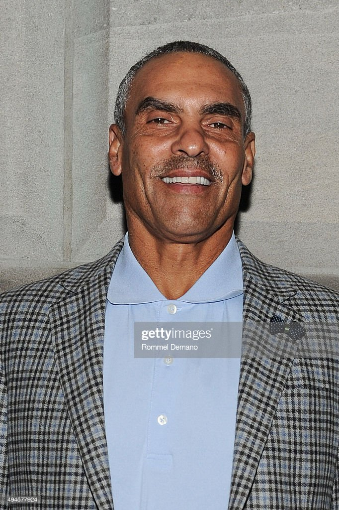 Herm Edwards attends The Hannah Storm Foundation's 'Celebrity Waiter Night' Fundraiser at New York Athletic Club on October 27 2015 in New York City