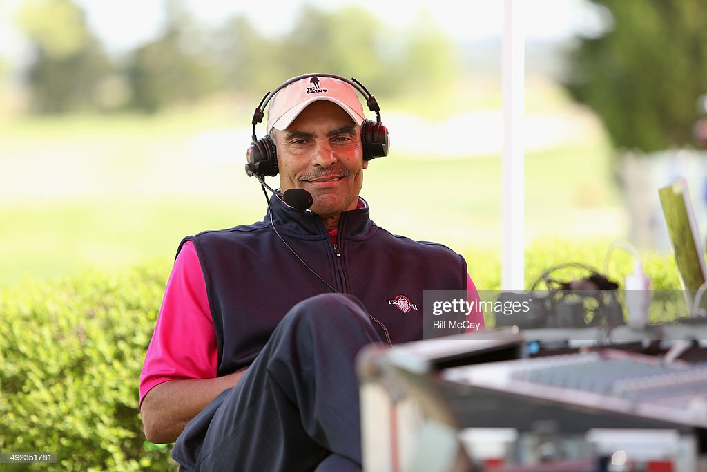 Herm Edwardsi NFL Analyst for ESPN attends the 30 year Anniversary of the Ron Jaworski Celebrity Golf Challenge at Atlantic City Country Club May 19...