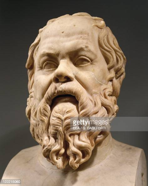 Herm of Socrates 469-399 BC Greek philosopher Roman copy after a Greek original from second half of the 4th century BC marble  News Photo