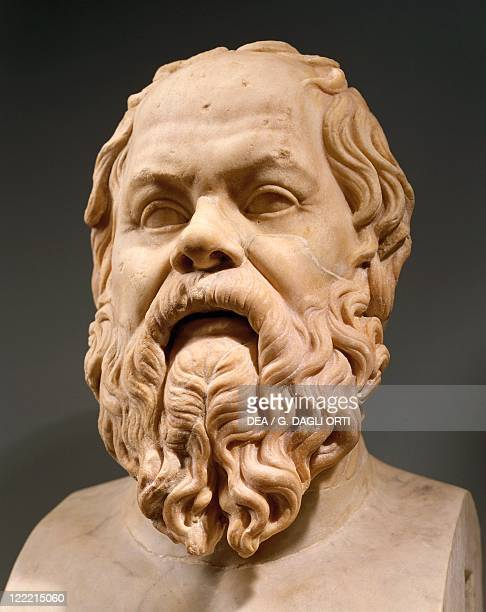 Herm of Socrates Greek philosopher Roman copy after a Greek original from second half of the 4th century BC marble