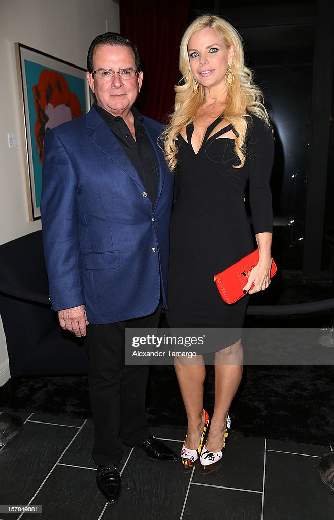 Herman Echevarria and Alexia Echevarria attend FENDI Casa's Art Basel cocktail party honoring the contemporary artwork of Andy Warhol with Elle Decor at FENDI Casa Luxury Living Showroom on December 6, 2012 in Miami, Florida.