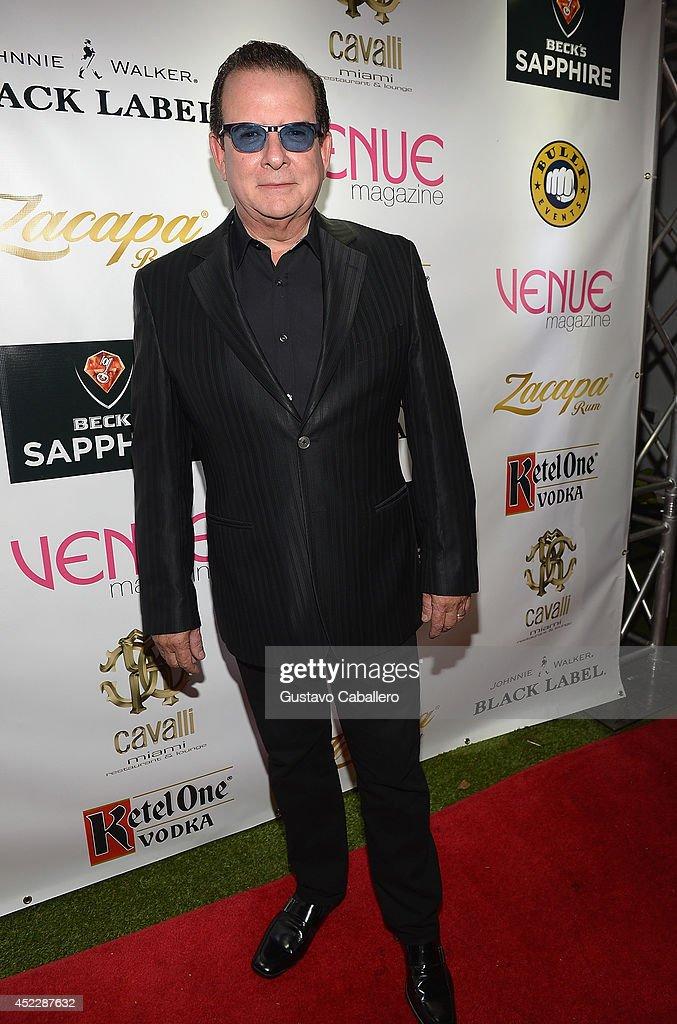 Herman Echevarria arrives at the Cavalli Miami on July 16, 2014 in Miami Beach, Florida.