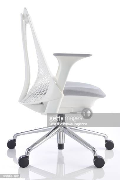 A Herman Miller Sayl office chair photographed on a white background taken on April 4 2013