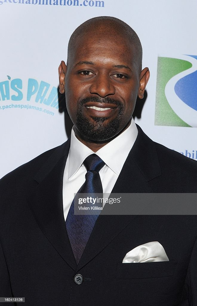 Herman Moore attends 'Imagination Heals' Children's Art Launch at The Beverly Hilton Hotel on February 22, 2013 in Beverly Hills, California.