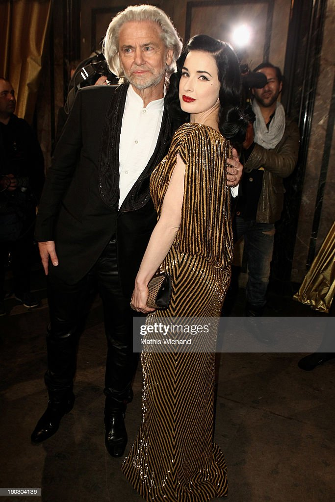 Hermann Buehlbecker and Dita van Teese attend the Lambertz Monday Night at Alter Wartesaal on January 28, 2013 in Cologne, Germany.