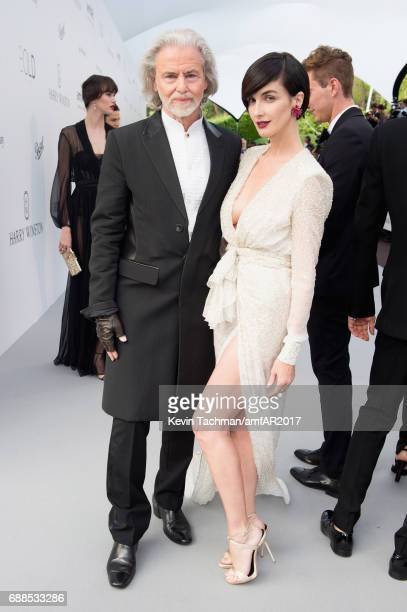 Hermann Buehlbecker and Paz Vega arrive at the amfAR Gala Cannes 2017 at Hotel du CapEdenRoc on May 25 2017 in Cap d'Antibes France