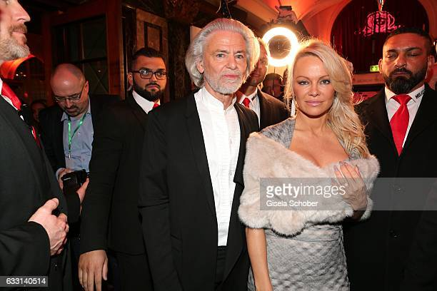 Hermann Buehlbecker CEO of Lambertz and Pamela Anderson during the Lambertz Monday Night 2017 at Alter Wartesaal on January 30 2017 in Cologne Germany