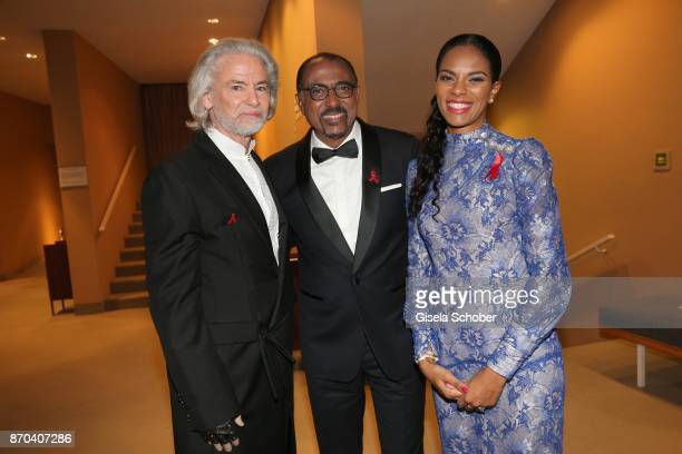 Hermann Buehlbecker Michel Sidibe Noella Coursaris Musunka during the 24th Opera Gala benefit to Deutsche AidsStiftung at Deutsche Oper Berlin on...