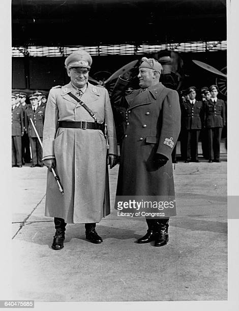 Hermann Goering and Benito Mussolini