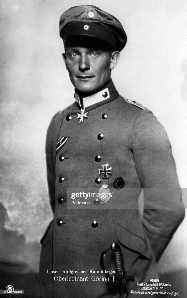 Hermann Goering as a Lieutenant in Richtofen's Flying Circus - daredevils of German Air Force.