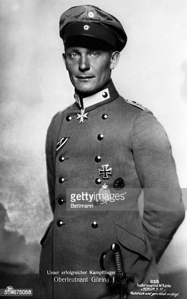 Hermann Goering as a Lieutenant in Richtofen's Flying Circus daredevils of German Air Force
