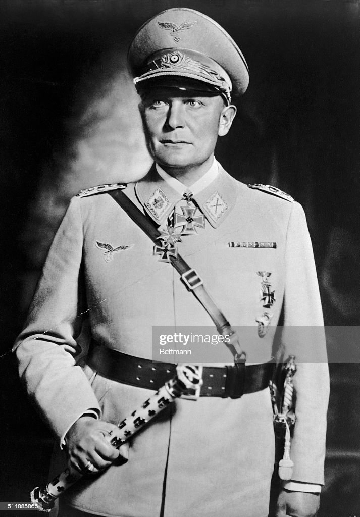 <a gi-track='captionPersonalityLinkClicked' href=/galleries/search?phrase=Hermann+Goering&family=editorial&specificpeople=93518 ng-click='$event.stopPropagation()'>Hermann Goering</a> (1893-1946), in uniform of Field Marshall. Photograph taken at the time of his greatest power as Air Minister of Germany and Prussian Minister of the interior. Undated photograph.