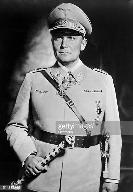 Hermann Goering in uniform of Field Marshall Photograph taken at the time of his greatest power as Air Minister of Germany and Prussian Minister of...