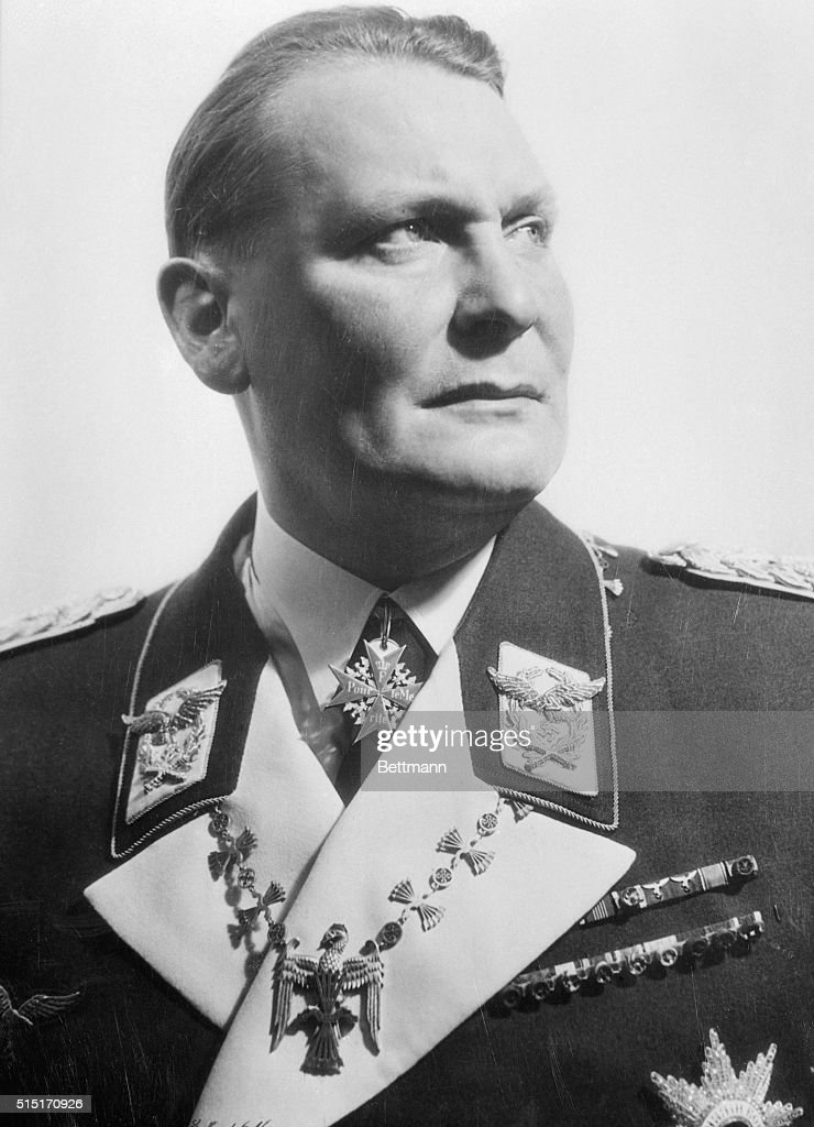 <a gi-track='captionPersonalityLinkClicked' href=/galleries/search?phrase=Hermann+Goering&family=editorial&specificpeople=93518 ng-click='$event.stopPropagation()'>Hermann Goering</a> was a fighter pilot in World War I who eventually became the second highest ranking man in the Third Reich, and leader of the Luftwaffe.