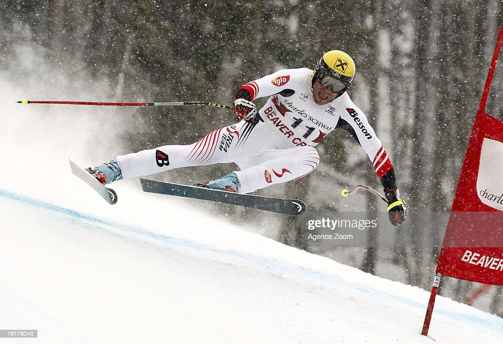 Hermann Maier of Austria takes 11th place during the Mens FIS Alpine World Cup Downhill November 30 2007 in Beaver Creek Colorado