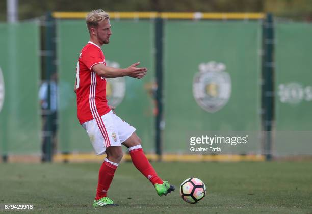 Hermes of SL Benfica B in action during the Segunda Liga match between Sporting CP B and SL Benfica B at CGD Stadium Aurelio Pereira on May 5 2017 in...