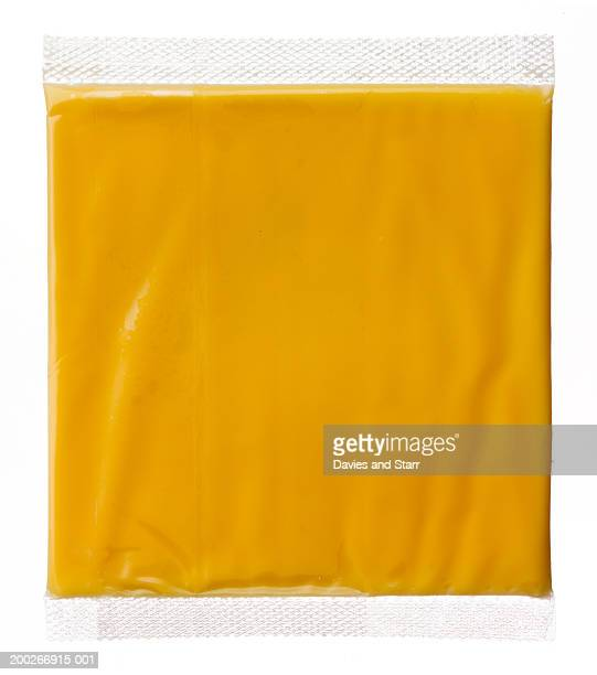 Hermetically sealed slice of american cheese