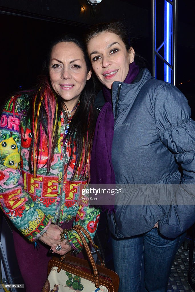 Hermine de Clermont Tonnerre and Jovanka Sopalovic attend 'Les Toiles Enchantees' Children Care Association Auction Dinner During The 50th Foire du Trone at Pelouse de Reuilly on March 29, 2013 in Paris, France.