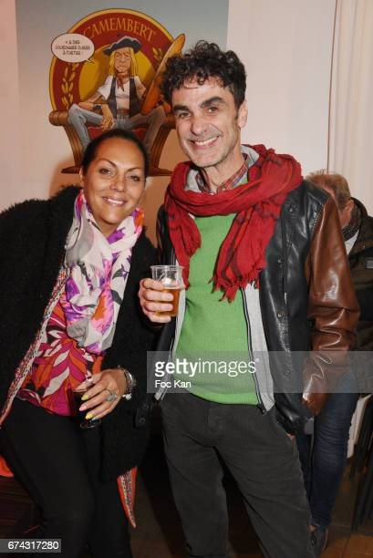 Hermine de Clermont Tonnerre and writer Francesco Rapazzini attends Rotana Performs at L'Alhambra on April 27 2017 in Paris France