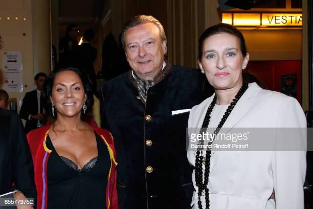 Hermine de ClermontTonnerre Princess Tania de Bourbon Parme and her husband Louis Arnaud L'Herbier attend the 'Enfance Majuscule 2017' Charity Gala...