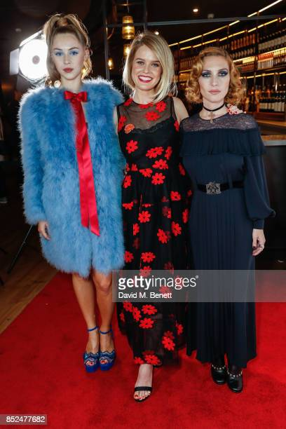 Hermione Corfield Alice Eve and Josephine De La Baume attend the 'Bees Make Honey' official screening during the Raindance Film Festival at the Vue...
