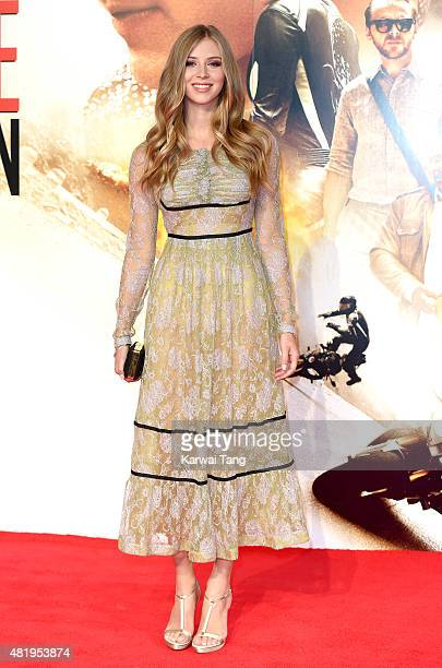 Hermione Corfield attends an exclusive screening of 'Mission Impossible Rogue Nation' at BFI IMAX on July 25 2015 in London England