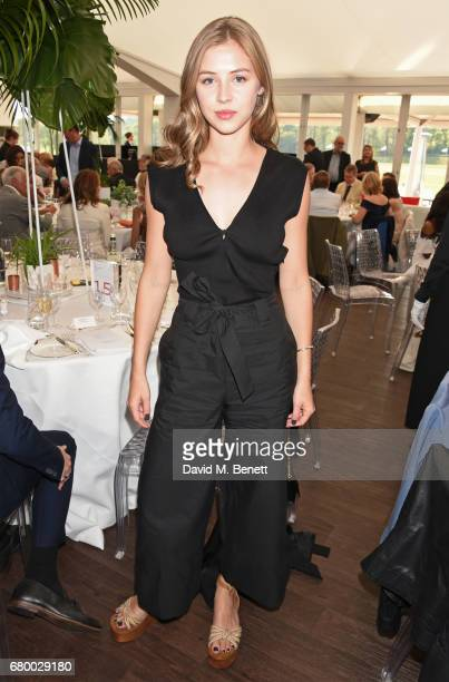 Hermione Corfield attends the Audi Polo Challenge at Coworth Park on May 7 2017 in Ascot United Kingdom