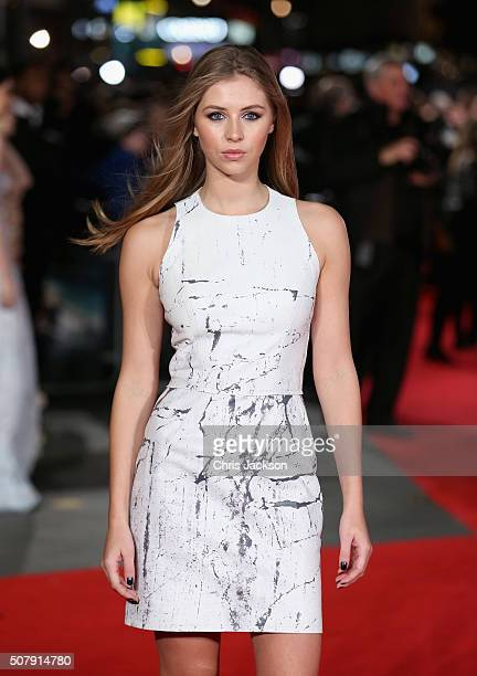 Hermione Corfield attends the European premiere of 'Pride And Prejudice And Zombies' at Vue West End on February 1 2016 in London England