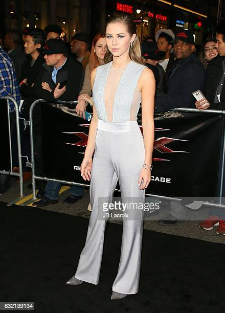 Hermione Corfield attends the premiere of Paramount Pictures' 'xXx Return Of Xander Cage' on January 19 2017 in Los Angeles California