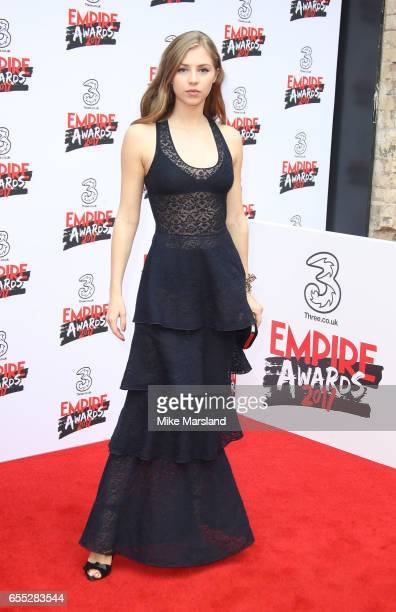 Hermione Corfield attends the THREE Empire awards at The Roundhouse on March 19 2017 in London England