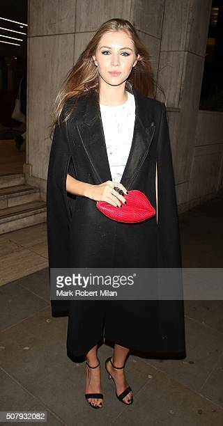 Hermione Cornfield attending the 'Pride And Prejudice And Zombies' after party at Bounce on February 1 2016 in London England