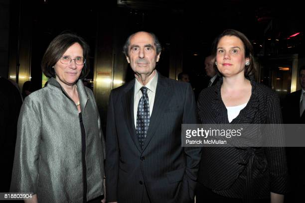 Hermione Lee Philip Roth and Julia Gloier attend PARIS REVIEW BOARD OF DIRECTORS REVEL 2010 at Cipriani on April 13 2010 in New York City