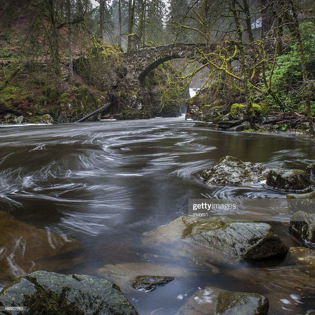 Hermitage Bridge, Dunkeld : Stockfoto