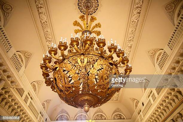 Hermitage Museum Winter palace Ceiling light in Arms Room