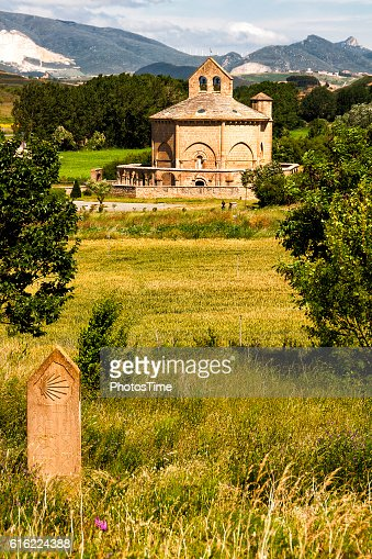 Hermitage Saint Mary of Eunate, Road to Santiago de Compostela : Stock Photo