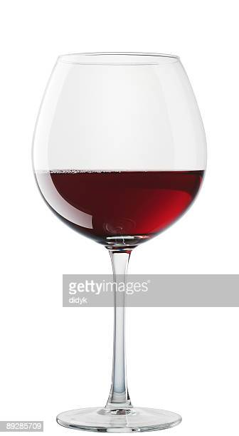 Hermitage verre de vin isolé sur fond blanc