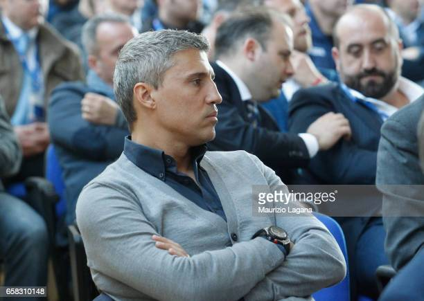 Hernan Crespo attends at Italian Football Federation 'Panchine D'Oro E D'Argento' Prize at Coverciano on March 27 2017 in Florence Italy