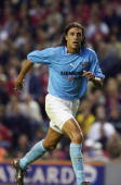 Hernan Crespo of Lazio in action during the PreSeason Friendly match between Liverpool and Lazio played at Anfield in Liverpool England on July 30...