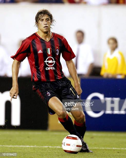 Hernan Crespo of Milan during Champions World Series game between AC Milan and Chelsea at Lincoln Financial Field Philadelphia Pennsylvania on August...
