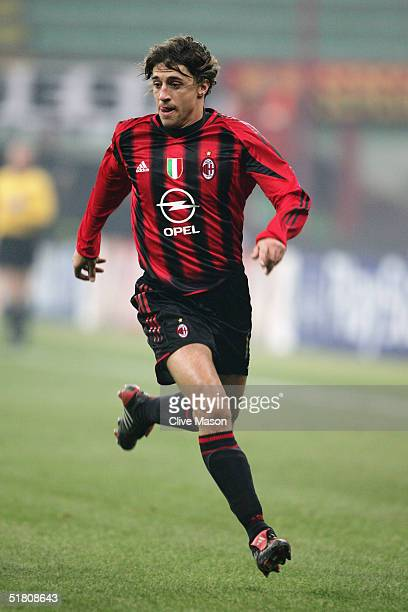 Hernan Crespo of Milan in action during the UEFA Champions League Group F match between AC Milan and Shakhtar Donetsk at the San Siro on November 24...