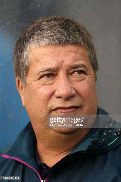 Hernan Dario Gomez the head coach / manager of Panama during the 2017 CONCACAF Gold Cup Group C match between Curacao and Jamaica at Qualcomm Stadium...