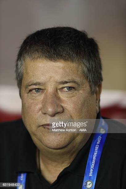 Hernan Dario Gomez the head coach / manager of Panama during the Copa Centroamericana 2017 tournament between Panama and Honduras at Estadio Rommel...